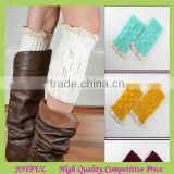 Wholesale customized knitted lace boot cuffs
