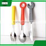 mini creative screwdriver wrench stainless steel silicone knife fork spoon ladle scoop dishware dinnerware tableware set