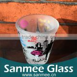 Mini Wine Frosted Souvenir Shot Glass with Custom Logo