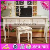2016 wholesale high quality bedroom solid wooden table and chair set W08G187