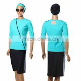 3 piece set women swimwear modest swimsuit Matching Shirt And tights Skirt 3 piece suit