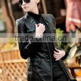 Free shipping 2015 new large size women's leather jacket. Fashion Slim small suit. Women's jacket. Cheaper