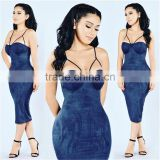 2016 HOT Fashion Autumn Dress Bustier Dress Spaghetti Straps Sexy Solid Velvet winter bodycon dresses Chest plus size factory