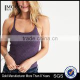 MGOO Fashion Cutting Crop Top Fitness Wholesale Back Cutout Sweater Tank Top With Adjustable Straps