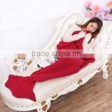 Adult New Style Mermaid Tail Blanket Knit TV Sofa Blanket Animal Shaped Cashmere Blanket