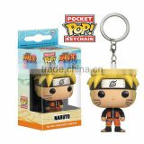Japanese Hot Anime Naruto Pocket POP Keychain Naruto, Mini PVC keychain, action figure doll keychain cheap price