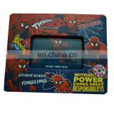 Factory low price spider man led light up plastic paper photo frame for kids