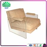 European Single Study Recline Chair Acrylic Sofa Chair Lucite Lazy Sofa