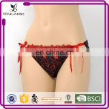 Hot Sale Fitness Young Women Bow Tie Female Sexy Underwear