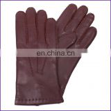 Mens Cashmere Lined Brown Nappa Gloves