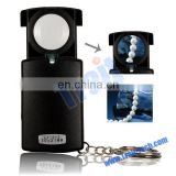 LJ-012 Black Mini Pull-type 30X Jewelry Magnifier with LED Light Source