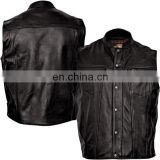 leather vest motorcycle genuine