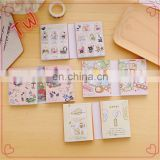 Low MOQ cute stationery online shopping .Factory price Customiezd Colorful Cute mini sticky note pad book
