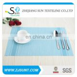 any size blue cheap plastic placemat