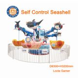 Zhongshan amusement Self Control Seashell flying chair rides for kid