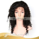 100% Unprocessed wholesale raw virgin curly 100% brazilian hair wig