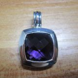 925 Silver DY Designer Inspired 14mm Amethyst Ablion Pendant Necklace