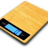 bamboo/stainless steel/glass 11lb/5kg square digital kitchen food scale GKS1561 0.01oz resolution LCD display