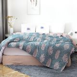 Bamboo Cotton Muslin Summer Blanket Bed Cover Sofa Travel Breathable Throw Blanket