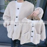 Parent-child wear mother and girl wear jacket lamb wool plus velvet padded top 2020 winter new
