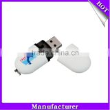 Eco-friendly rubber touch pill shape usb pen drive with logo free 512M 1gb 2gb 4gb 8gb 16gb capacity