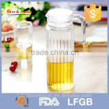 2015 NEW Design 1.0L liter glass water set dinner drinking with handle