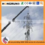 Q345 burial type electric power pole 2.75mm for 110kv power distribution power substation