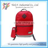 Nylon + 600D Ripstop Polyester Red Color casual backpack with tablet compartment + Mobile phone pouch