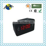 Hot Sale Cute Desk Digital Alarm Clock Radio (AM FM radio) / Digital PLL Alarm Clock Radio