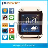 2014podoorPW305 latest smart watch, Nano screen, sync Call,SMS,contacts,Social,weather,Vibrate,pedometer,women watch