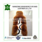 colored real wool long and shorn sheepskin front car seat cushion