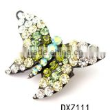 Butterfly brooches in bulk with diamond,animal sharped brooches,costume brooch with rhinestone
