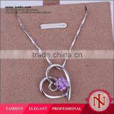 Heart shaped stainess steel fashion jewelry zircon crystal pendants wholesale alibaba LKNS925P029