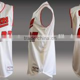 China sleeveless baseball jersey wholesale/Mesh baseball jersey pattern