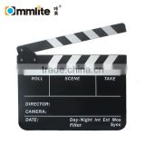 Acrylic Clapboard Dry Erase Director TV Film Movie Clapperboard Clapper Board Slate with White Sticks(25x30cm)