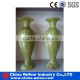 fashional green onyx flower vase