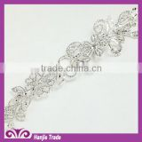 Manufacturers Noble elegant DIY lace / crystal rhinestone applique patch bridal/rhinestone lace