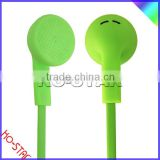 Classic Style Flat Cable Cheap Plastic Earphones with Remote Control for Smart Phone MP3 Music Player