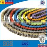 color O-ring racing motorcycle chains / ATV chains                                                                                                         Supplier's Choice