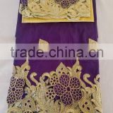african george fabric with guipure cord lace india raw silk high quality george wrappers with flowers