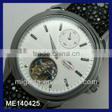 24 hours display small dial high quality mechanical watch mechanical see through skeleton watch