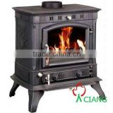 coal fireplace with boiler