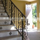 wrought iron decorative indoor stair railing/wrought iron panels for stairway/handrail for staircase/stair handrailing