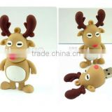 Hot! gift christmas deer model USB Memory Stick cover,promotional holiday gift usb cover