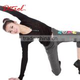 D005064 Women V Neck Long sleeve Black Velour Fitted Tracksuit