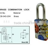 Heavy duty brass padlock locking changeable combination lock combination zipper lock