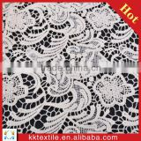 White Color 100% Cotton Embroidered Chemical Lace/ Water Soluble Lace/swiss embroidered lace