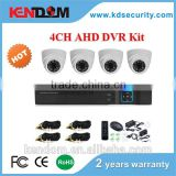 Kendom KD-AK4070PD-AH Top Sale HD AHD CCTV Camera 720P IR Dome Secuirty System 4CH DVR Kit Indoor Surveillance