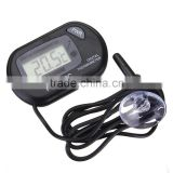 2015 New LCD Display Digital Fish Aquarium Tank Marine Water Thermometer Black Sensor Cable 1M With Suction Base