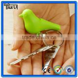 More colors birdhouse little bird nest shape keychain bird keychain with whistle